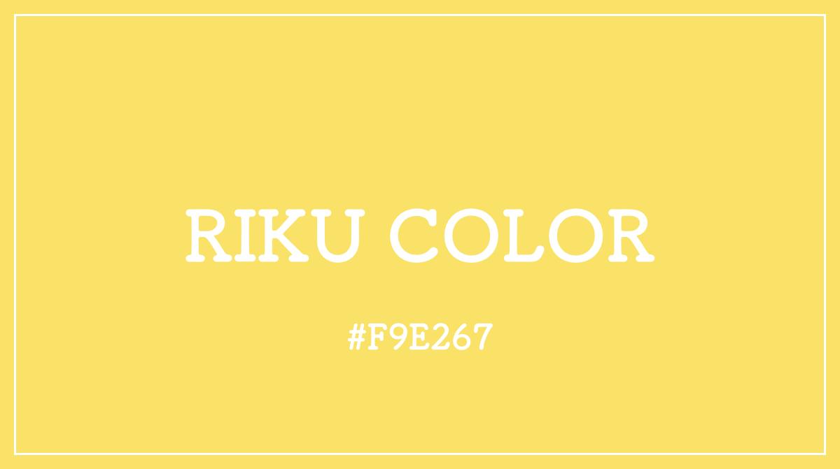 RIKU リク カラーコード 色 イメージ