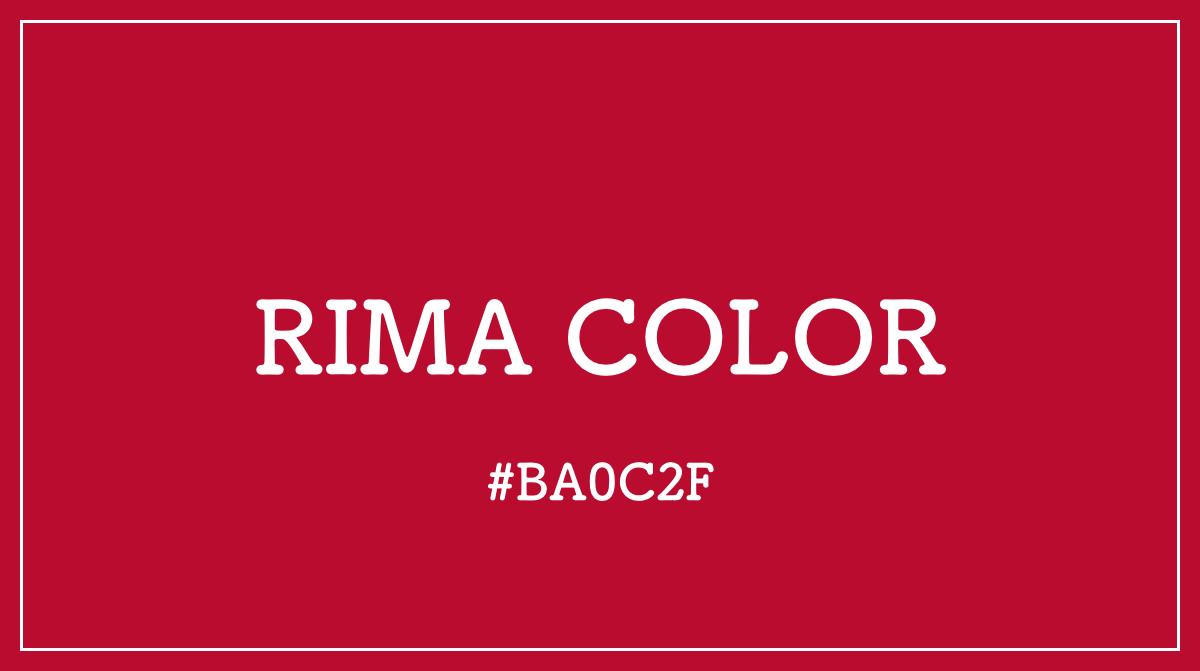 RIMA リマ カラーコード 色 イメージ