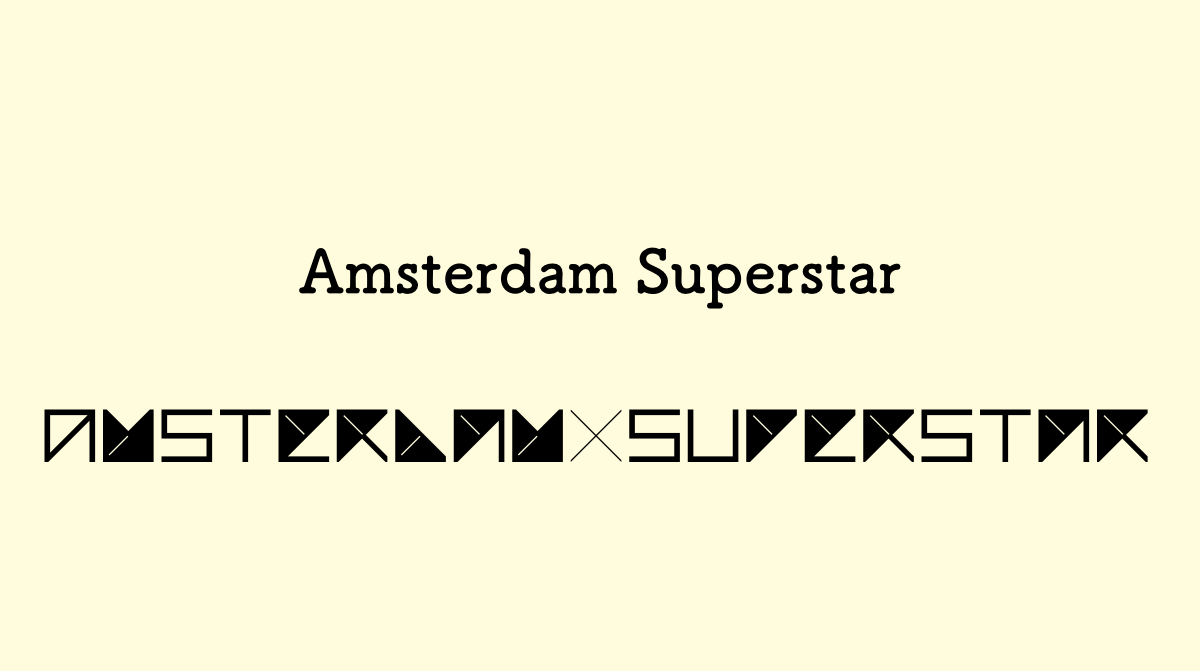 NiziU フォント Amsterdam Superstar