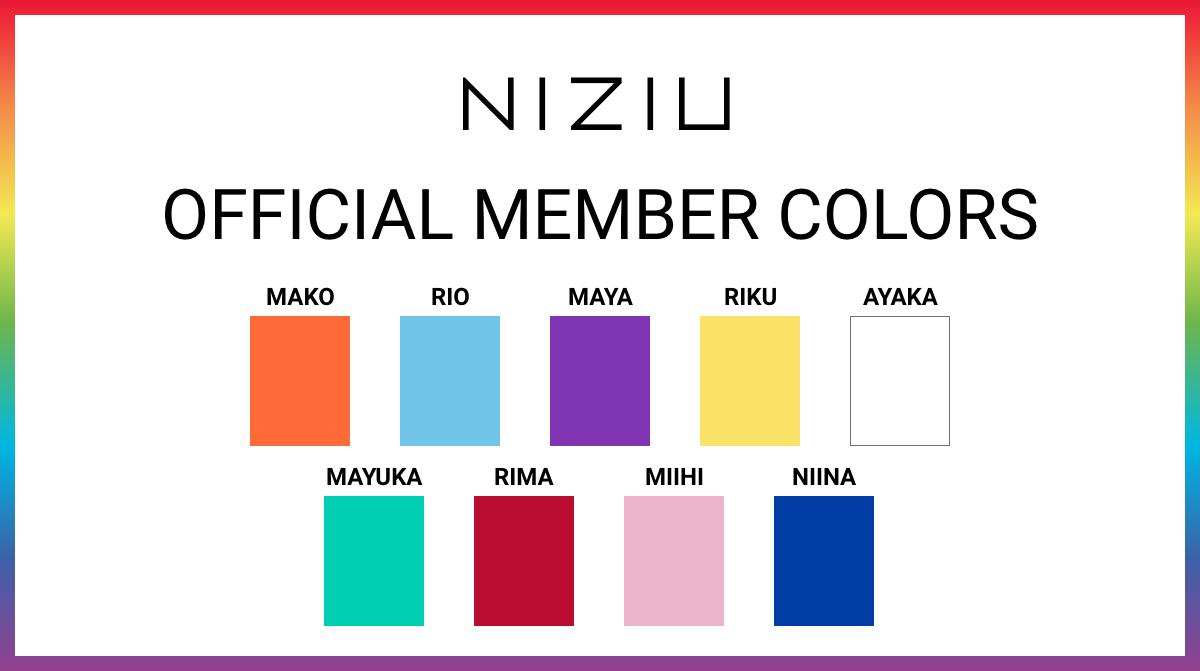 NiziU 公式メンバーカラー