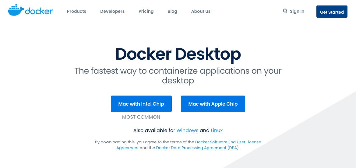 docker desktop ダウンロード インストール